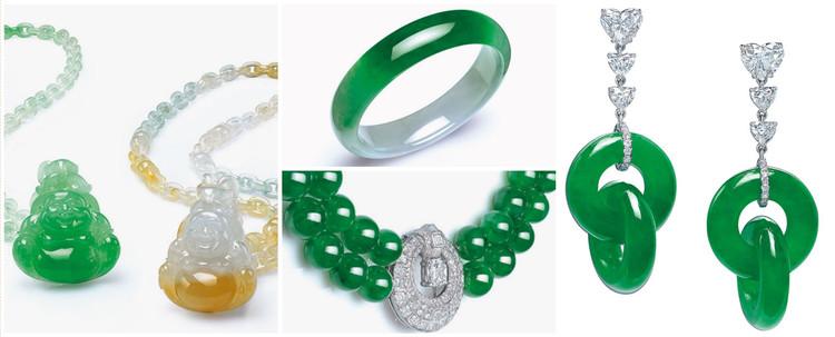 Aceste minunate bijuterii de jad au fost vandute in ultimii ani de catre case de licitatii Christie's.