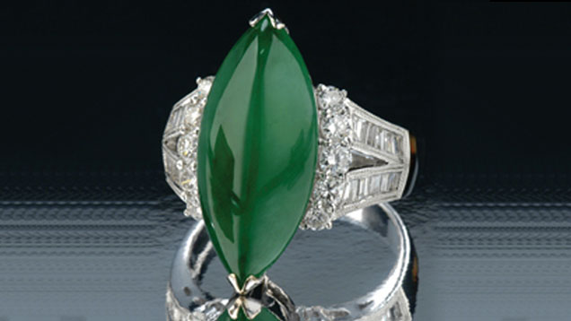 Jadeite ring donated to GIA by