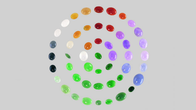 Jadeite color range